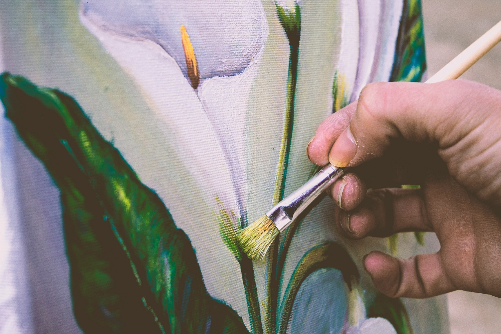 artist's finishing touches