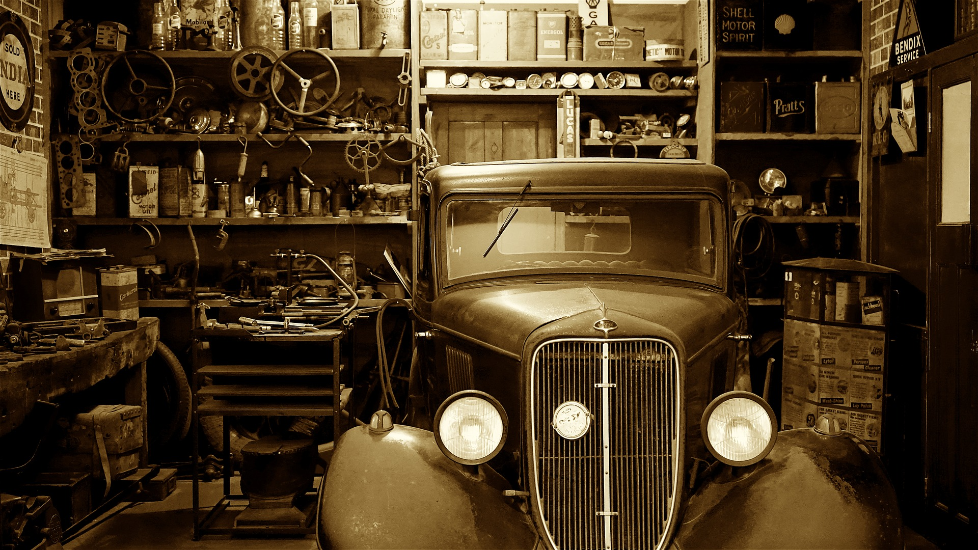 antique car garage