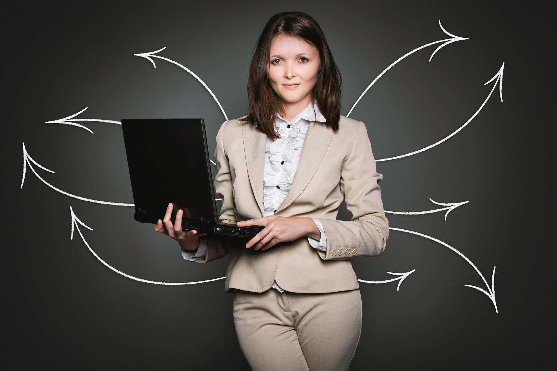 woman laptop arrows Connection: Has It Lost Its Meaning?