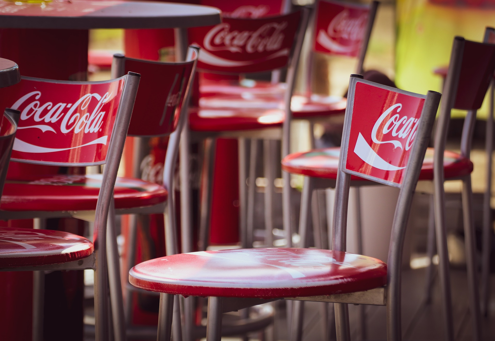 coca cola branding chairs